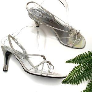 St. John rhinestone made in Italy heels size 9 M